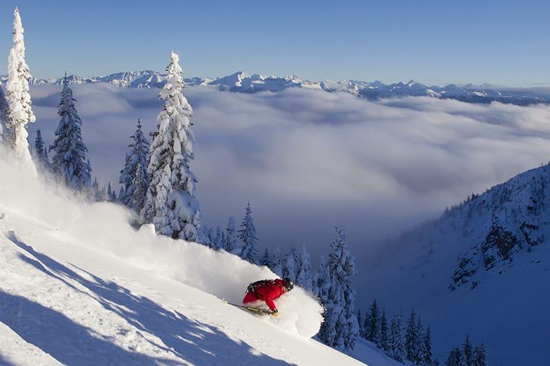 Esquiar en Kicking Horse